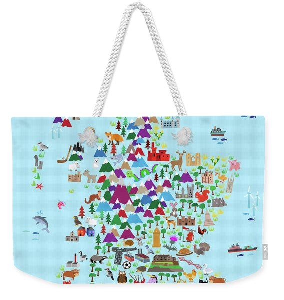 Animal Map Of Scotland For Children And Kids Weekender Tote Bag