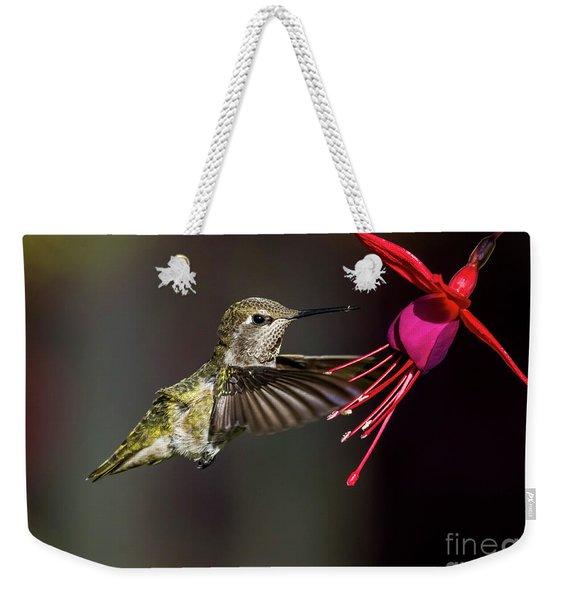 Anna Juvenile Hummingbird Weekender Tote Bag