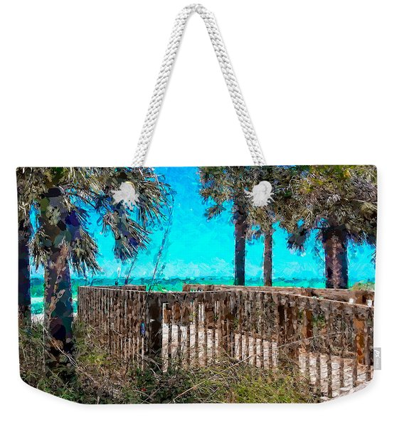 Anna Maria Boardwalk Access Weekender Tote Bag