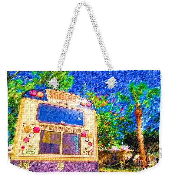 Anna Maria Elementary School Bus C131270 Weekender Tote Bag
