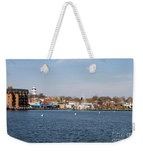 Annapolis City Skyline Weekender Tote Bag