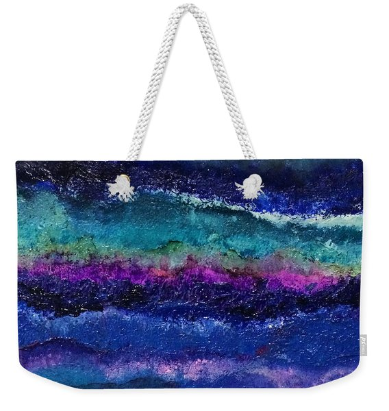 Weekender Tote Bag featuring the painting Anne's Abstract by Kim Nelson