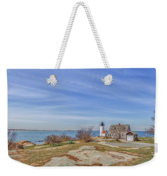 Annisquam Harbor Lighthouse Weekender Tote Bag