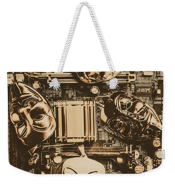 Anonymous Cyber Masks Weekender Tote Bag