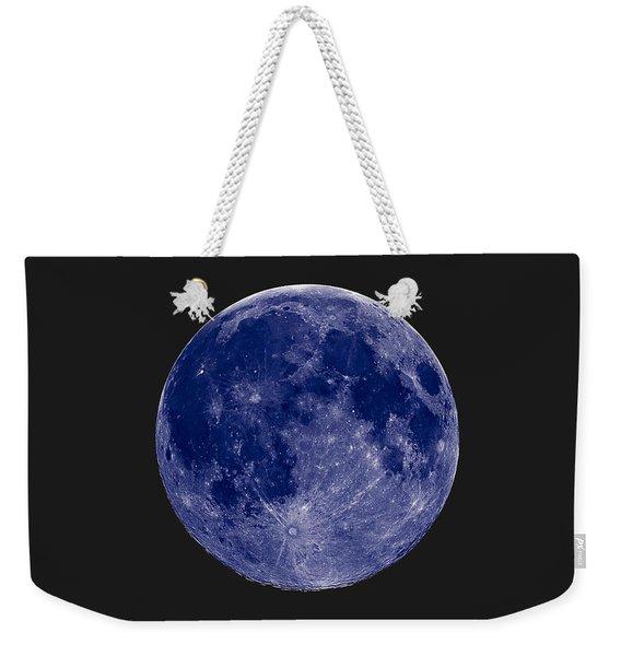 Another Blue Moon Weekender Tote Bag