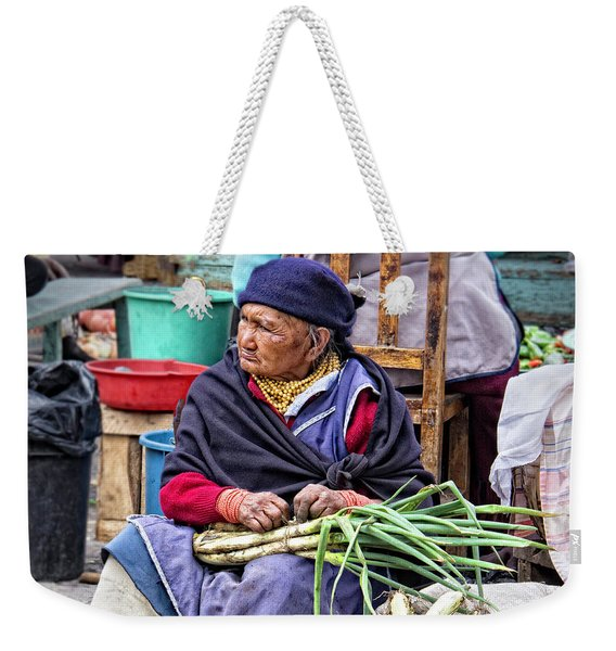 Another Day At The Market Weekender Tote Bag