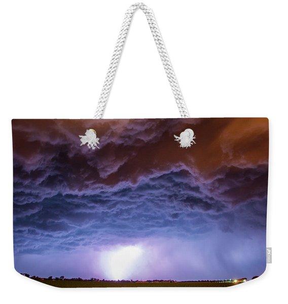 Another Impressive Nebraska Night Thunderstorm 007 Weekender Tote Bag
