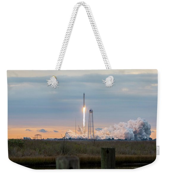 Antares Launch From Wallops Island Weekender Tote Bag