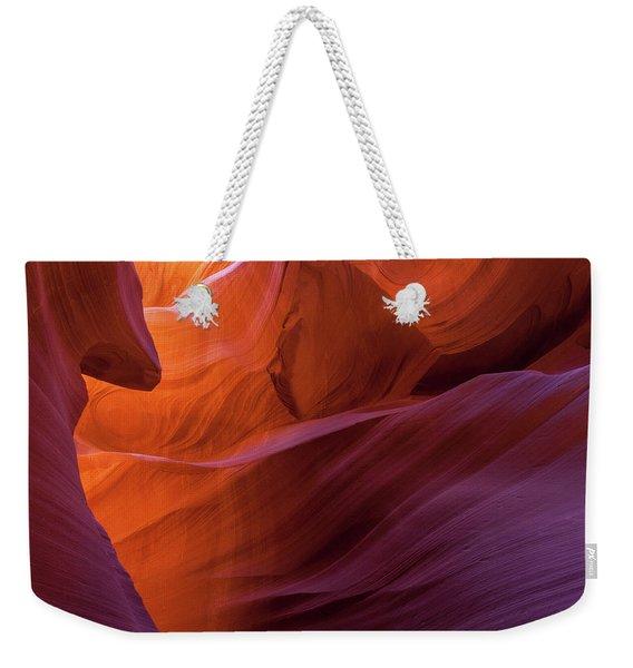 Antelope Canyon Fire Weekender Tote Bag