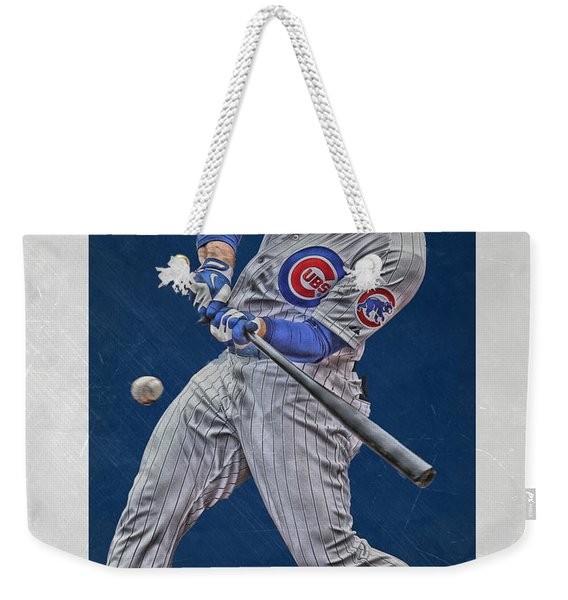 Anthony Rizzo Chicago Cubs Art 1 Weekender Tote Bag