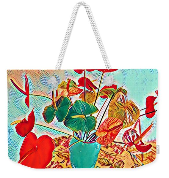 Anthurium Bouquet Of The Day - Multiple Color Weekender Tote Bag
