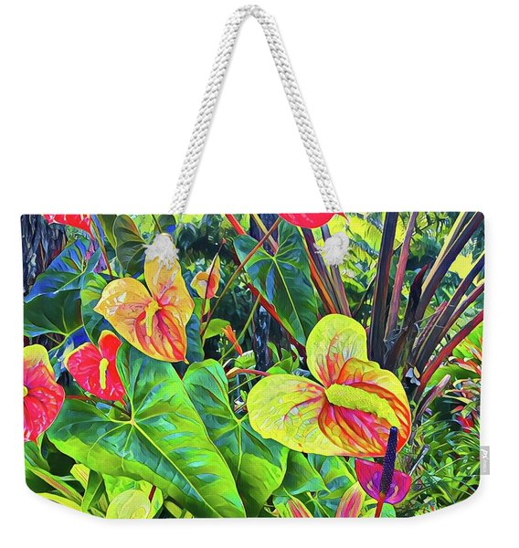 Anthuriums Yellow And Red Weekender Tote Bag