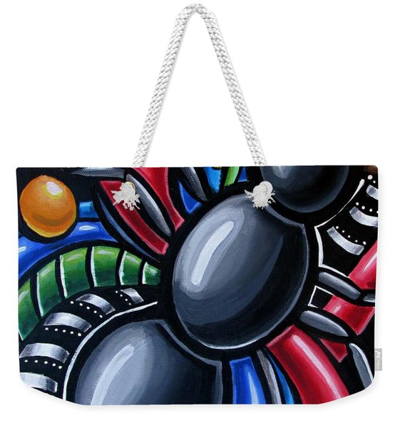 Ant Art Painting Colorful Abstract Artwork - Chromatic Acrylic Painting Weekender Tote Bag