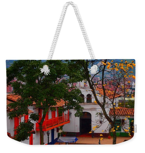 Weekender Tote Bag featuring the photograph Antioquia by Skip Hunt