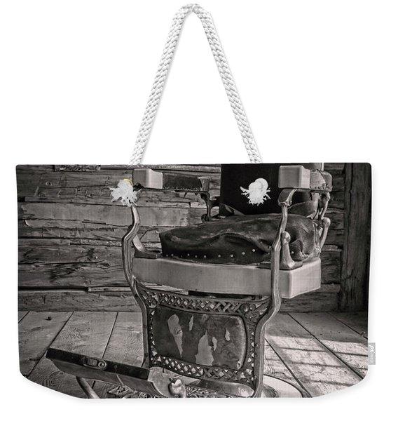 Antique Barber Chair Weekender Tote Bag