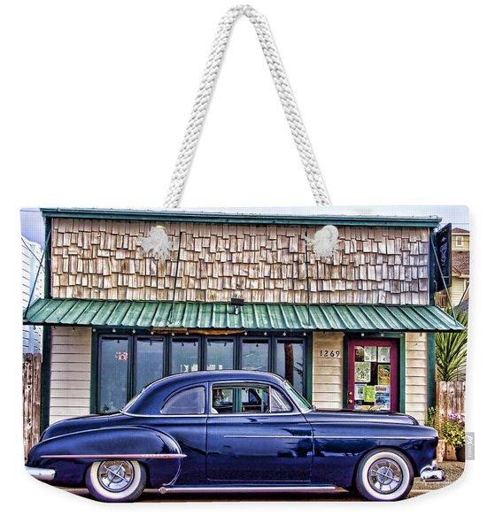 Antique Car - Blue Weekender Tote Bag