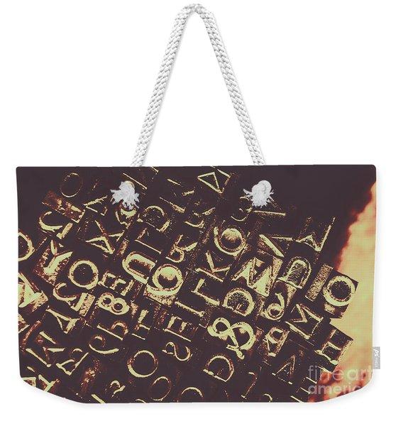 Antique Enigma Code Weekender Tote Bag