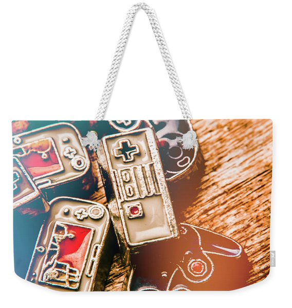 Antique Gaming Consoles Weekender Tote Bag