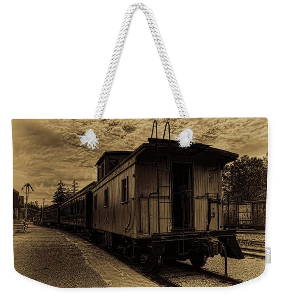 Antique Iron Range Caboose Weekender Tote Bag