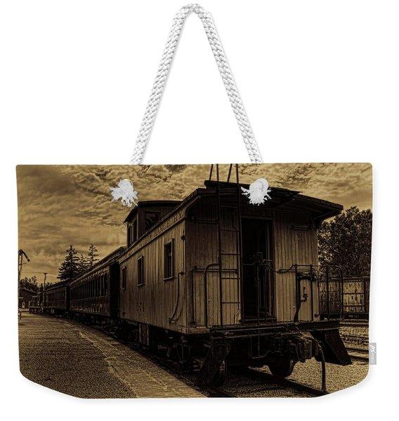 Antique Iron Range Caboose Weekender Tote Bag
