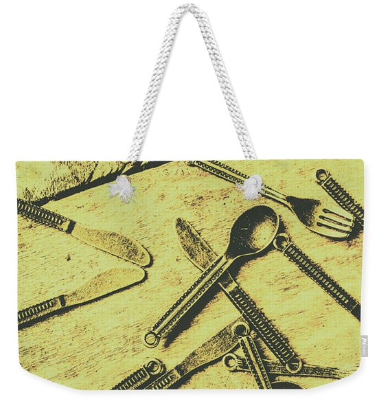 Antique Kitchen Setting Weekender Tote Bag