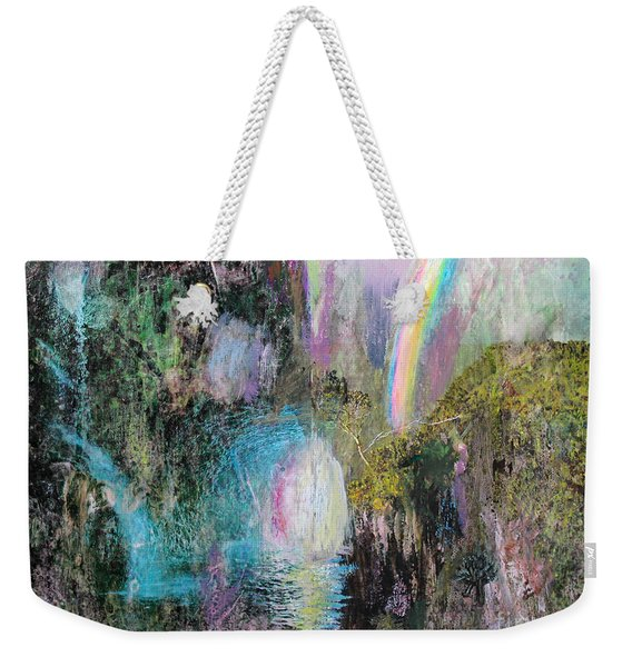 Antique Landscape With Rainbow Weekender Tote Bag