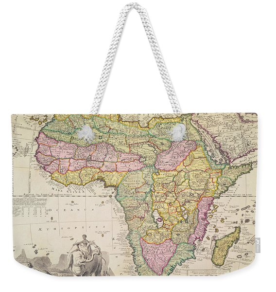 Antique Map Of Africa Weekender Tote Bag