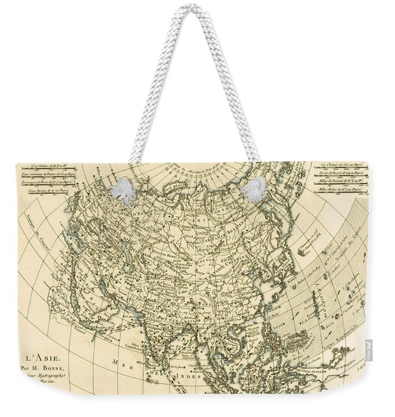 Antique Map Of Asia Weekender Tote Bag