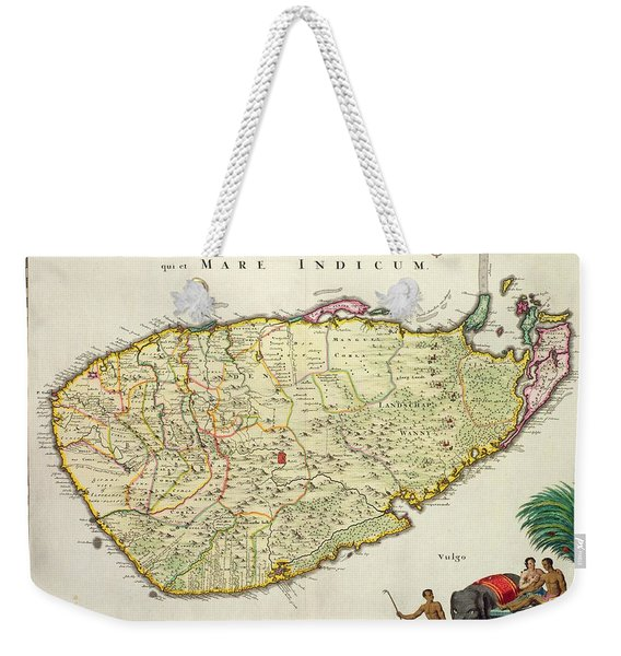 Antique Map Of Ceylon Weekender Tote Bag