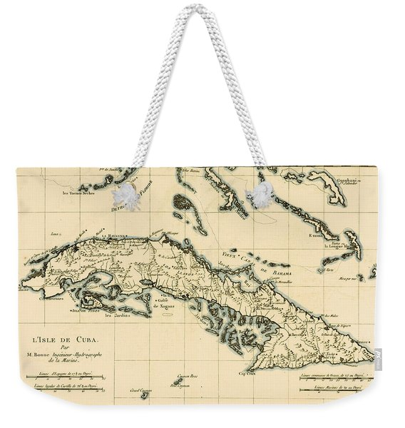 Antique Map Of Cuba Weekender Tote Bag