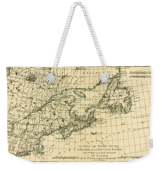 Antique Map Of Eastern Canada Weekender Tote Bag