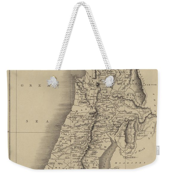 Antique Map Of Judah And Israel Weekender Tote Bag