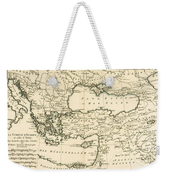 Antique Map Of Turkey Weekender Tote Bag