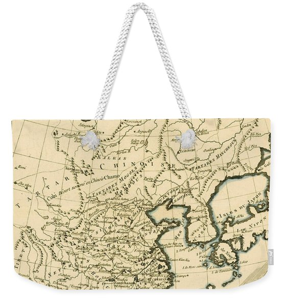 Antique Map The Chinese Empire Weekender Tote Bag