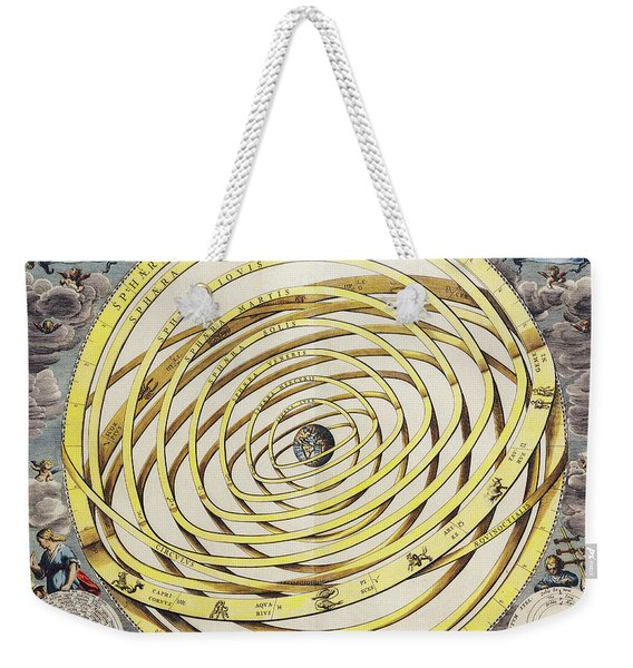 Antique Maps - Old Cartographic Maps - Geocentric Chart - Ptolemaic Model Weekender Tote Bag
