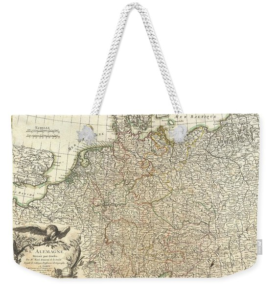 Antique Maps - Old Cartographic Maps - Antique Map Of Germany And Poland, 1771 Weekender Tote Bag