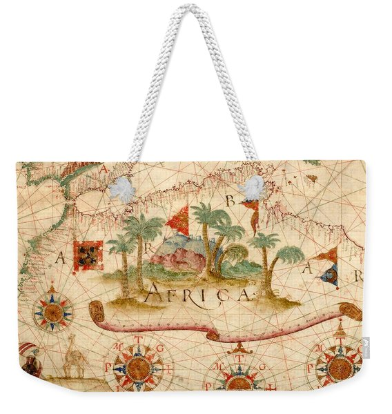 Antique Maps - Old Cartographic Maps - Antique Map Of North Africa Weekender Tote Bag