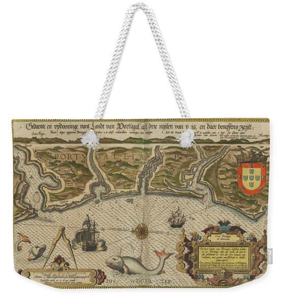Antique Maps - Old Cartographic Maps - Antique Map Of Portugal -  Portuguese Coast Weekender Tote Bag