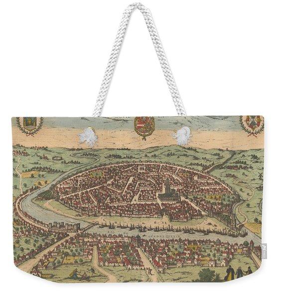 Antique Maps - Old Cartographic Maps - Antique Map Of Seville - Sevilla, Spain, 1590 Weekender Tote Bag