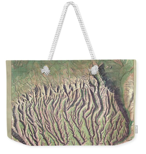 Antique Maps - Old Cartographic Maps - Relief Map Of Mesa Verde National Park, Colorado Weekender Tote Bag