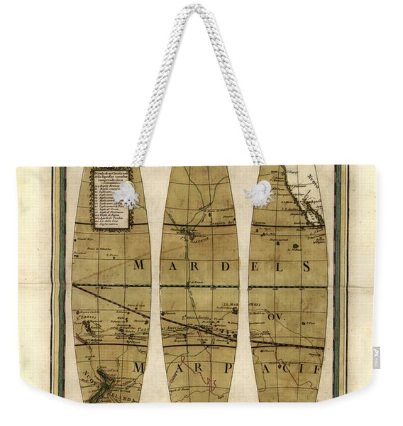 Antique Maps - Old Cartographic Maps - Sections Of The Globe - North And South America Weekender Tote Bag