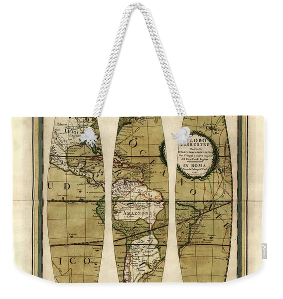 Antique Maps - Old Cartographic Maps - Sections Of The Globe - Pacific Ocean Weekender Tote Bag
