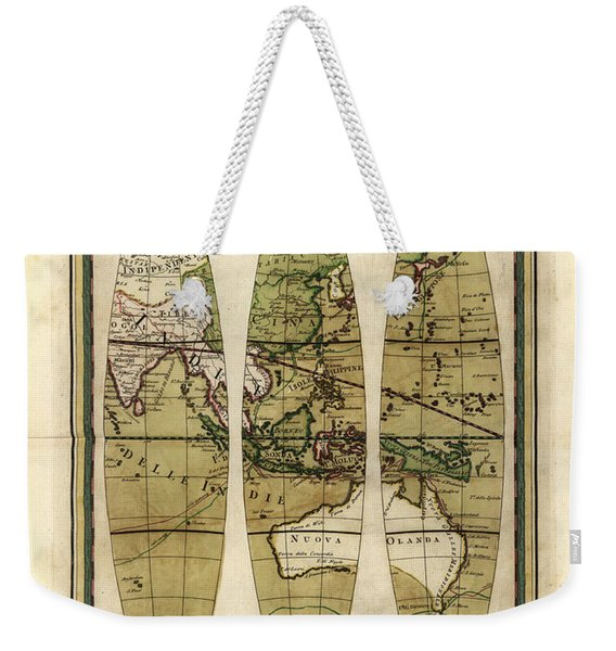 Antique Maps - Old Cartographic Maps - Sections Of The Globe - South East Asia And Australia Weekender Tote Bag