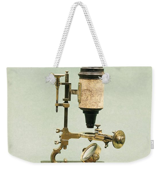 Antique Microscope Weekender Tote Bag