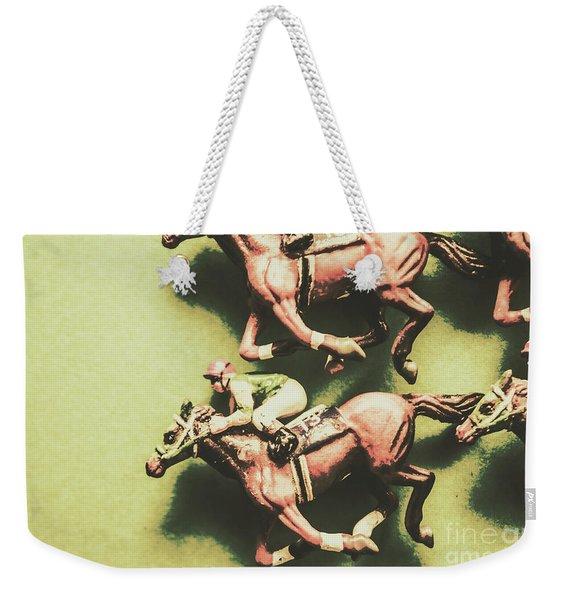 Antique Race Weekender Tote Bag
