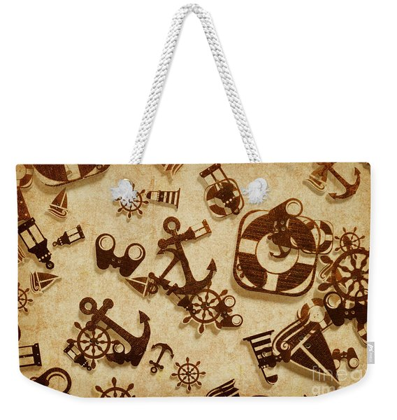 Antique Seaside Design Weekender Tote Bag