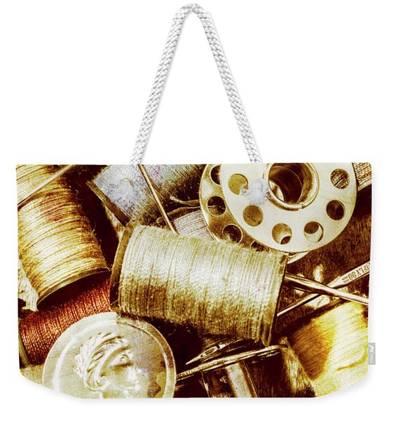 Antique Sewing Artwork Weekender Tote Bag