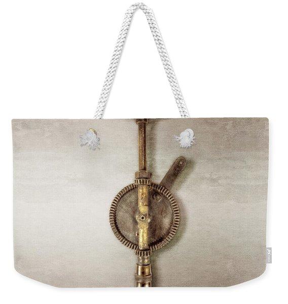 Antique Shoulder Drill Backside Weekender Tote Bag