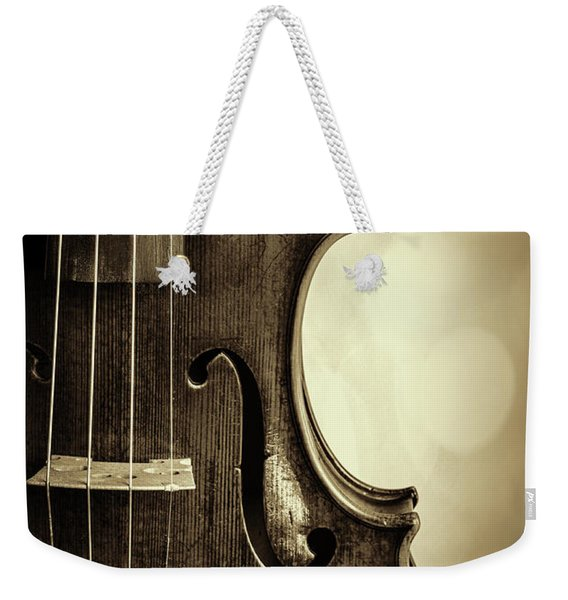 Antique Violin 1732.34 Weekender Tote Bag