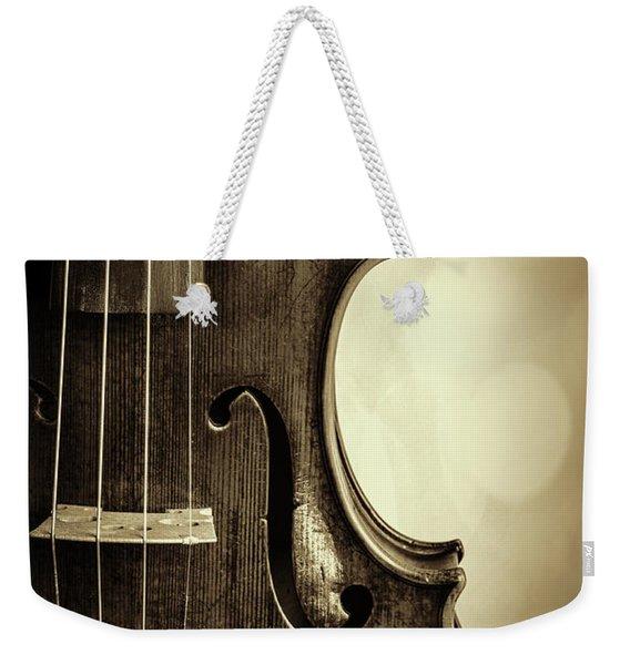 Antique Violin 1732.34 Weekender Tote Bag